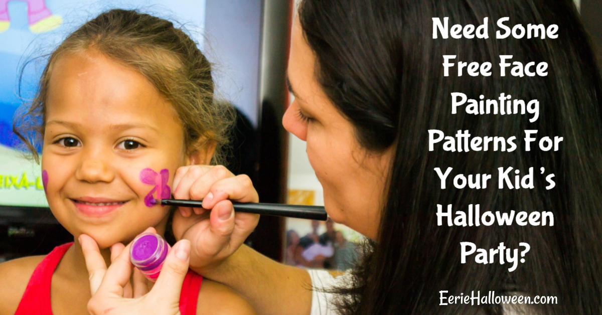 Need Some Free Face Painting Patterns For Your Kids Halloween Party